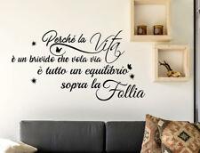 Wall stickers Frasi Vasco Rossi Decorazione della casa per muro Adesivi Murali