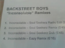 Backstreet Boys - Inconsolable Remixes cdr maxi 2007 Promo MINT Soul Seekerz
