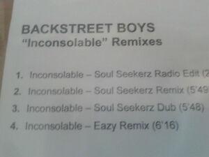 Backstreet Boys - Inconsolable Remixes cdr maxi 2007 Promo MINT Soul Seekerz