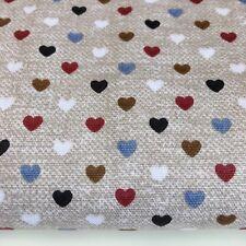 Shabby Chic Crazy Hearts 100% Tela De Algodón. precio por 1/2 metros