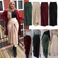 Muslim Women Pencil Skirt Bodycon High Waist Stretch Long Maxi Bandage Skirt New