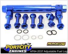 Aeroflow Billet Adjustable Fuel Log Rail Holley Barry Grant/Demon Carb AF64-2037