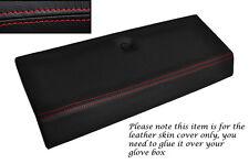 Rojo Stitch Guante Caja Tapa Cuero Piel tapa se ajusta Fiat X1/9 X19