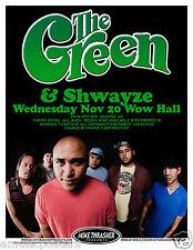 THE GREEN / SHWAYZE 2013 EUGENE CONCERT TOUR POSTER - Reggae, Hip Hop Music