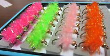 24 #8  BH Estaz Eggs Steelhead Salmon Trout spawn fly fishing glo egg flies!