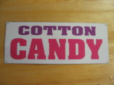 COTTON CANDY All Weather Banner Sign machine carnival
