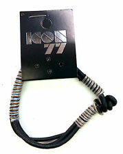 Mens ICON 77 BRAND Adjustable Wrist Band Bracelet