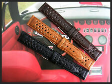 20mm Black Tropic Buffalo calf Rally GT Sport watch band IW SUISSE18-19-22 NATO