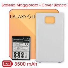 Batteria MAGGIORATA Marca Smartex 3500mAh + COVER Bianca per GALAXY S2 SII i9100