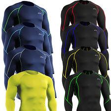 mens Compression Top running golf cycling skin Base Layer longsleeve Shirt S~2XL