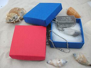 Dog Tag Paar Erkennungsmarke + Prägung in Edelstahl mit Geschenkkarton
