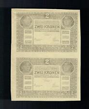 2 Kronen 1917 / Einseitiger Probedruck / DOPPELSTÜCK / sehr selten /  RR
