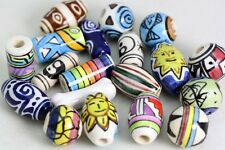 Hand painted Ceramic BEADS  Made in Peru -  fairtrade     mix x 25