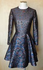 Mary KATRANTZOU Jacquard Astere Dress in Cookie Lame 2014 collection size 4 EUC!