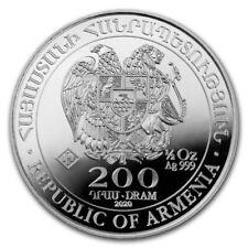 ARMENIE 200 Dram Argent 1/2 Once Arche de Noé 2020