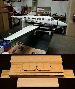 "120""Ws Beechcraft KING AIR B200 R/c Plane partial kit-short kit & plans PLS READ"