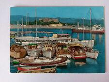 Antibes France Vintage colour Postcard 1964 Le Port
