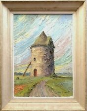 SUPERB FRENCH IMPRESSIONIST IMPASTO OIL CANVAS ANTIQUE LANDSCAPE PAINTING