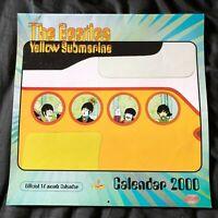THE BEATLES original Yellow Submarine 2000 Official licensed UK calendar Mint