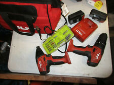 hilti cordless combo SF 2H-A & SID 2-A 2 batterys and charger