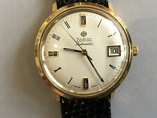 Vintage Zodiac Automatic Wristwatch Dress Watch Rare Awesome dial Signed 4 times