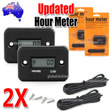 2x Waterproof Digital Hour Meter for Motorcycle Snowmobile Boat Dirt Gas Engine