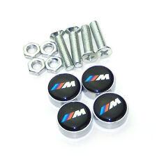 M Emblem License Plate Frame Screw Bolt Caps For BMW E90 F30 E60 F10 X1 X3 X5 X6