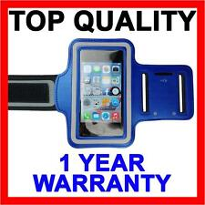 BLUE Armband Sports Gym Running Exercise Cover for Apple iPhone SE 5S 5C 5 4S 4