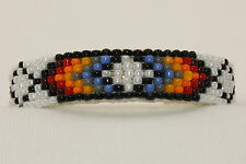 Navajo Native American Indian Colorful Leather Beaded Baby Bracelet