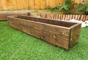 Rustic Large  Wooden Garden Planter, Length: 100cm