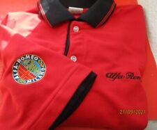 ALFA Romeo Poloshirt kurz Arm XL Schriftzug und Logo gestickt ( Dekorationteil)