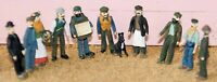 10 Victorian Edwardian Working Class F9 UNPAINTED OO Scale Langley Model Figures