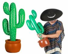 Inflatable Cactus Blow Up 90cm Wild West Mexican Cowboy Setter Decoration Party