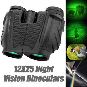 Portable 12X25 Professional Binoculars Outdoor Night Vision Telescope Scope: