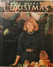 Christmas Stewart Cookery / Martha Stewart's Christmas Entertaining Signed 1989