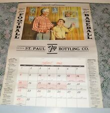 1962 Minnesota Twins & Vikings 7UP St. Paul Bottling Calendar Full Calendar Pad