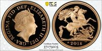 2018 Great Britain Gold Proof Double Sovereign PCGS PR70 DCAM Coronation Privy