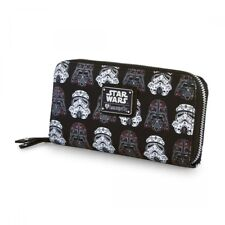 Star Wars Darth Vader Storm Trooper Sugar Skull Zip Around Wallet NWT Loungefly