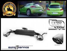 SILENCIEUX POT D'ECHAPPEMENT VW SCIROCCO III 2008-2010 2011 2012 2013 TIP 120x80