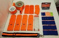 NERF LOT 10 Magazines 100 Darts, 35 25 18 12 10 Round, Gun Ammo Drum Clip Strike