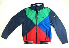 NWT Tommy Hilfiger Mens Colorblock Jacket Size M Striped...