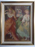 FERDINAND FARGEOT (1880 -1957) Impressionniste Le Bal MABILLE PARIS Huile signée