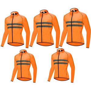 Unisex Adult Zipper Cycling Long Sleeve Jacket Sportswear for Men Women MTB Bike