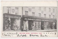 Davies & Evans Stores Wilton Road, Victoria, London 1908 Postcard  B746