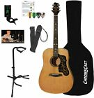 Sawtooth Acoustic Dreadnought Guitar (Custom Pickguard) with Case, Tuner, Stand, for sale