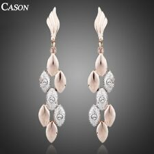 Fashion Wedding Drop Earrings Austrian Crystal 18K Rose Gold Plated Jewelry
