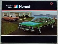 AMERICAN MOTORS AMC HORNET USA Car Sales Brochure c1974 #AMX 7402