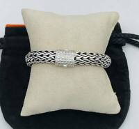 "JOHN HARDY SIGNATURE SILVER Wheat Chain 10mm  BRACELET 8.25"" VGUC"