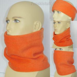 Orange NECK FACE MASK WARMER fleece scarf snood school ski Ladies Mens ADULT