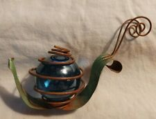 """So Cute! Vtg Spare Parts Metal Art Snail Figurine 4""""L x 3.25""""T - Handcrafted"""
